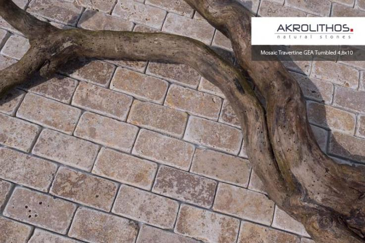 Mosaiik Travertin Gea, trummeldatud, 4,8x10 mm